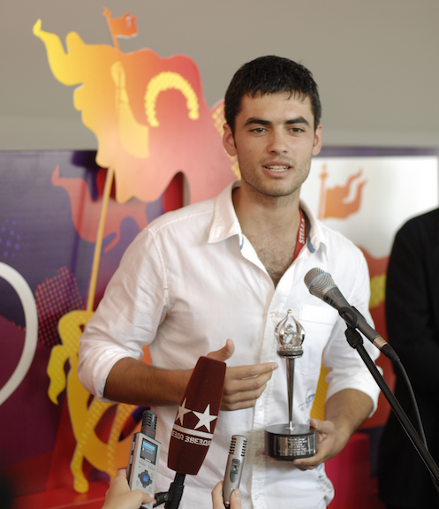 The Silver St. George prize for Best Actor went to The Albanian\'s lead actor Nik Xhelilaj, courtesy Vladimir Maximov/MIFF