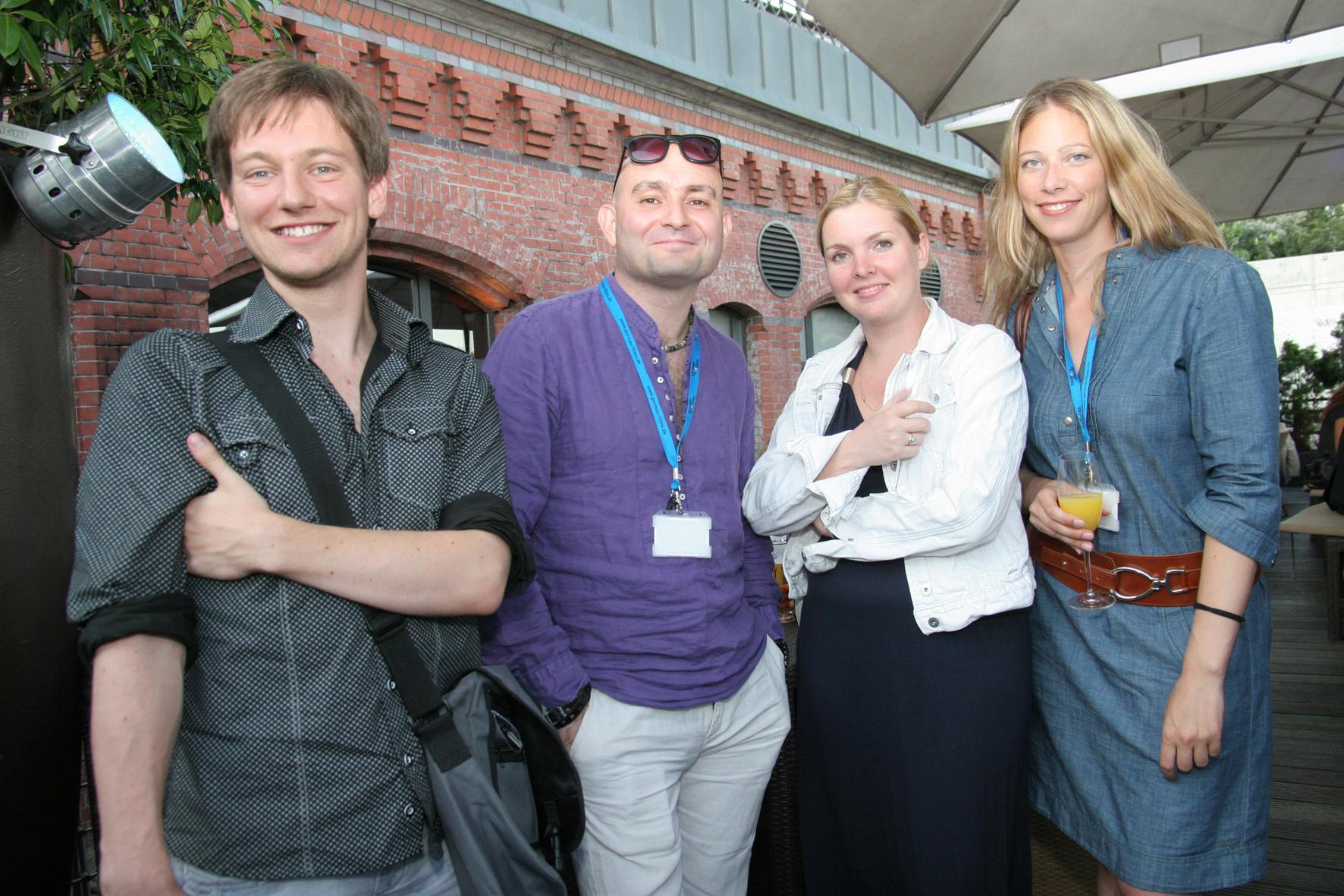 Bavaria International's Stefanie Zeitler (right) with Russian distributors, courtesy: Klaas Dierks/German Films