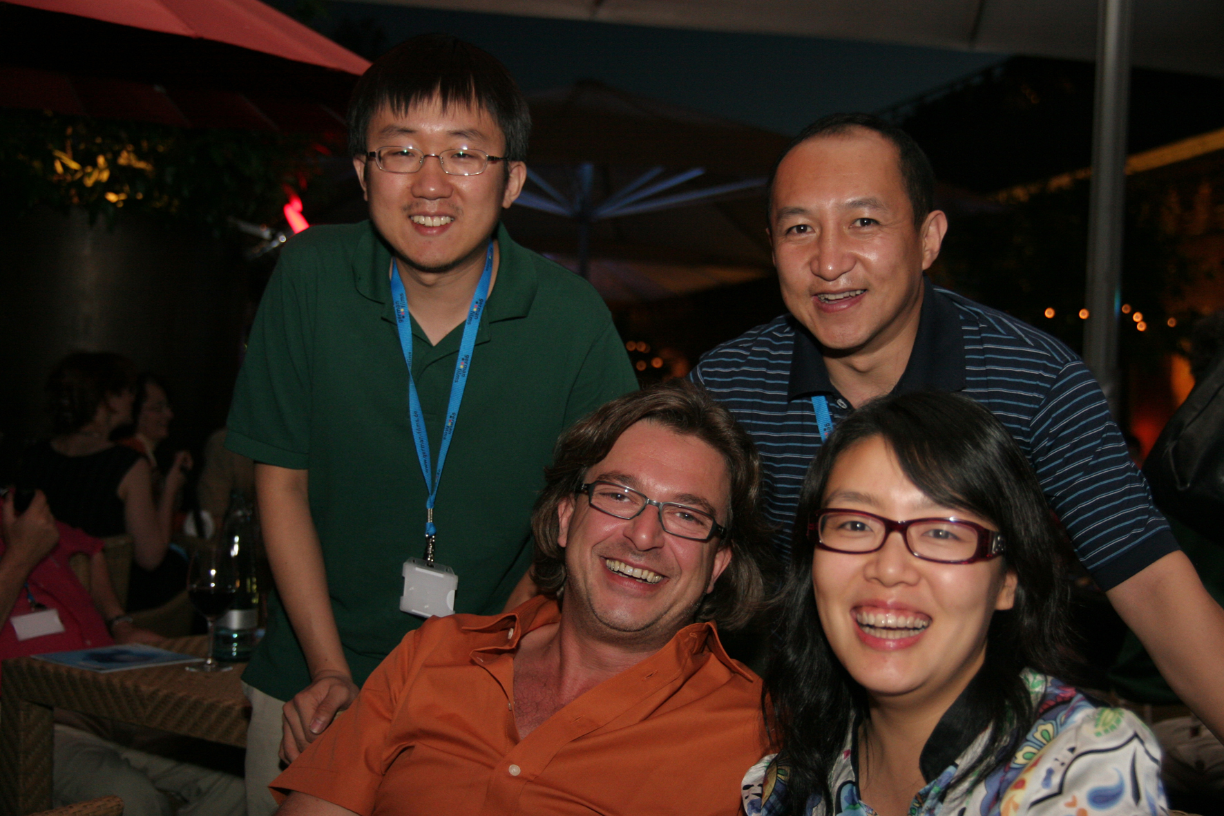 Beta Cinema's Andreas Rothbauer with buyers from China, courtesy: Klaas Dierks/German Films