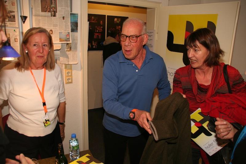 Bob Rafelson arrives in Hof with the Film Days' Ursula Wulfekamp, courtesy Hof Film Days