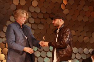 In photo jury president Fridrik Thor Fridriksson presents Grand Prix to Shelter's Dragomir Sholev, courtesy Sofia Film Festival