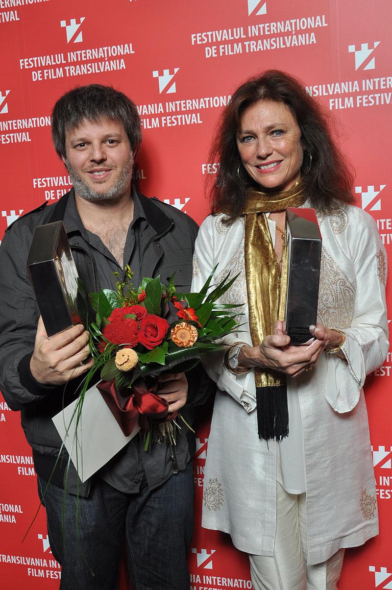 In photo: Transilvania Trophy winner Miguel Cohan with Jacqueline Bisset, courtesy Nicu Cherciu/TIFF