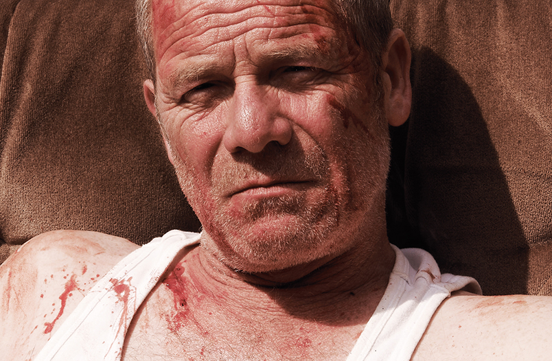 In photo: Peter Mullan in the Grand Prix winner Tyrannosaur, courtesy VOICES
