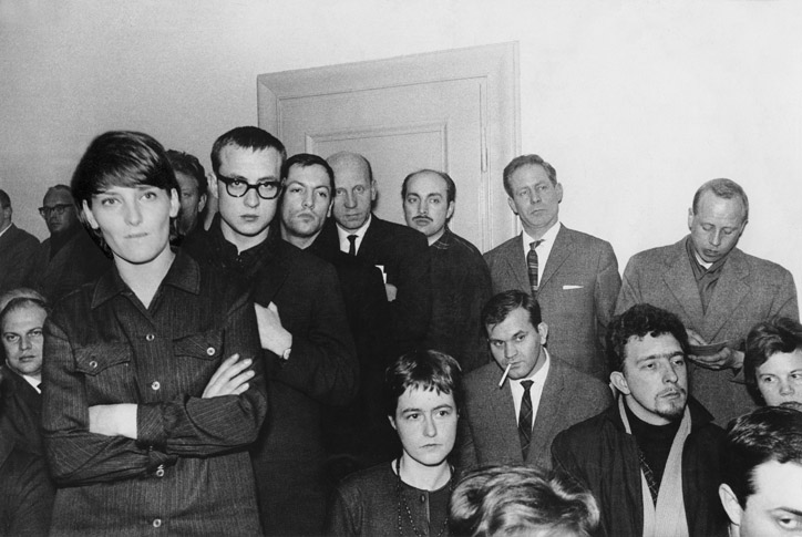 Oberhausen 1962 press conference, photo courtesy oberhausener-manifest.com