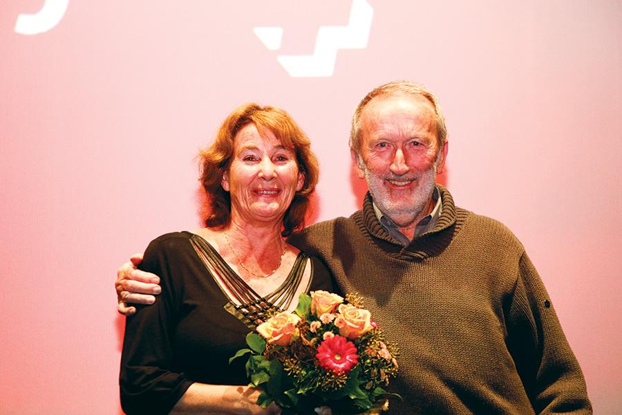 In photo: Monika Schindler with director Roland Gräf, courtesy Film+