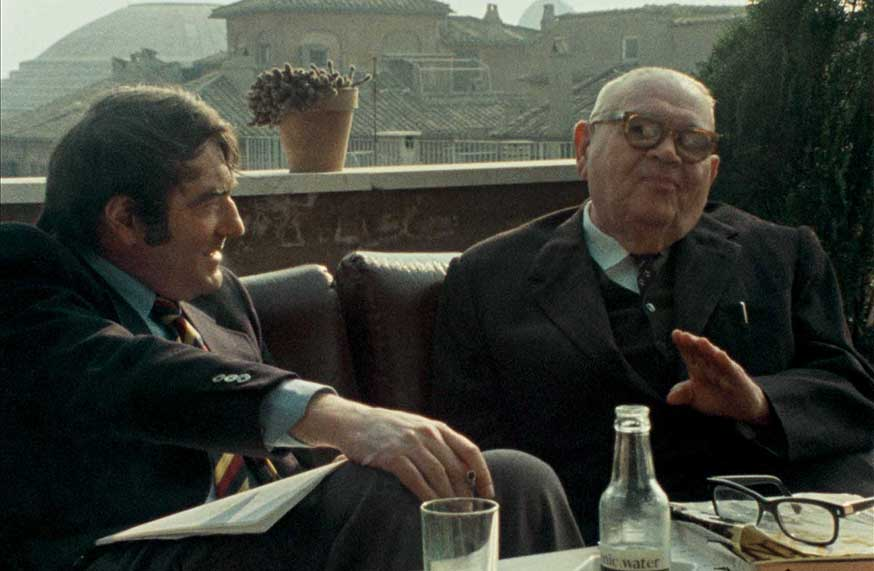 Claude Lanzmann mit Benjamin Murmelstein in The Last of the Unjust