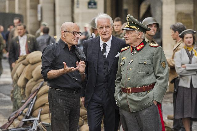 Regisseur und Ko-Autor Volker Schlöndorff mit den beiden Hauptdarstellern; Koch-Media, München